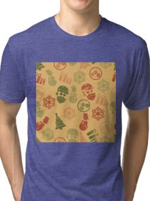Christmas & New Yearr vintage Tri-blend T-Shirt