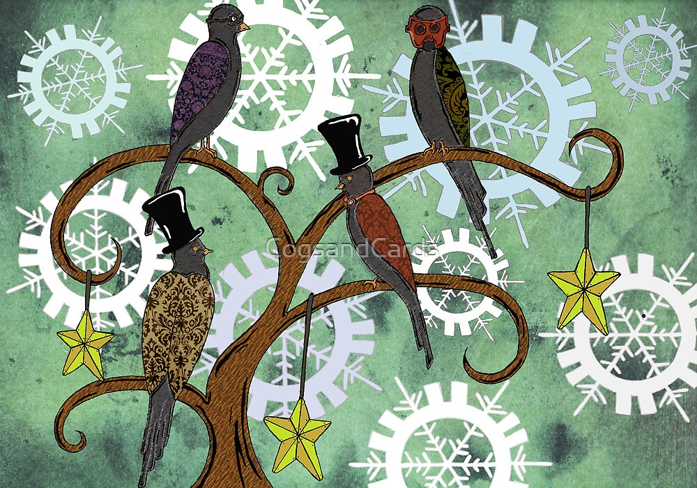Four Colly Birds by CogsandCards