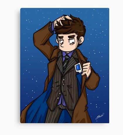 Doctor Who - Tenth Doctor  Canvas Print