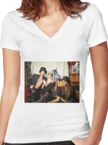 Fabulous people  Women's Fitted V-Neck T-Shirt