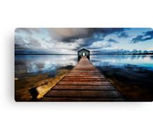 Boatshed Canvas Print