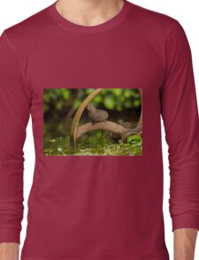 Inquisative baby Water vole Long Sleeve T-Shirt