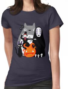 Ghibli'd Away Womens Fitted T-Shirt