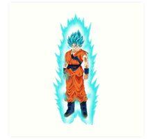 Super Saiyan God Super Saiyan Goku Art Print