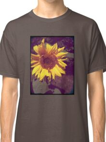 Old Photo of a Sunflower with Hasselblad crosshairs Classic T-Shirt