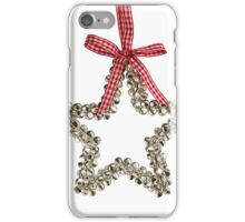 Silver Bells Christmas Star Decoration iPhone Case/Skin