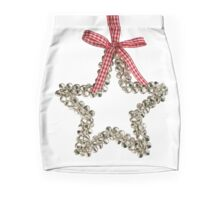 Silver Bells Christmas Star Decoration Mini Skirt