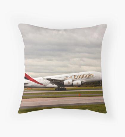 Emirates Airbus A380-861 Throw Pillow