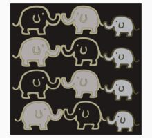 Elephant Herd One Piece - Long Sleeve