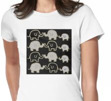 Elephant Herd Womens Fitted T-Shirt