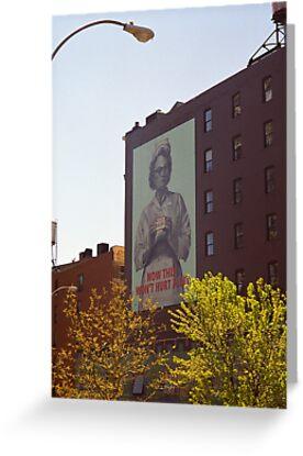 Retro Nurse poster, New York by Flo Smith