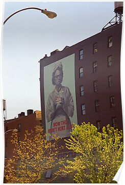Retro Nurse poster, New York by Flo Smith