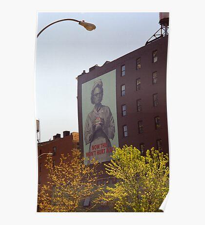 Retro Nurse poster, New York Poster