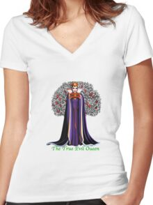 The True Evil Queen Women's Fitted V-Neck T-Shirt