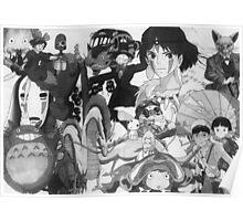 Studio Ghibli montage Poster