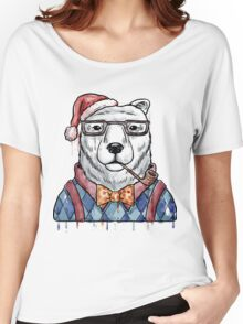 Bear Christmas & New Year Women's Relaxed Fit T-Shirt