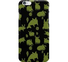 Weebeasts (olive and light green) iPhone Case/Skin