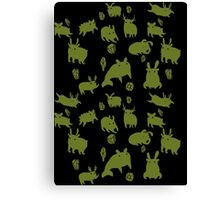Weebeasts (olive and light green) Canvas Print