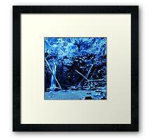 Mariners Falls in Blue Framed Print