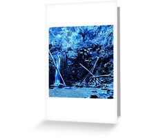 Mariners Falls in Blue Greeting Card