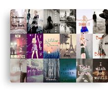 Taylor Swift 1989 Song Titles  Canvas Print