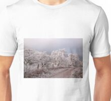 Line of winter trees Unisex T-Shirt