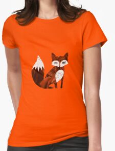 Patchwork Fox Womens Fitted T-Shirt