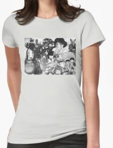 Studio Ghibli montage Womens Fitted T-Shirt