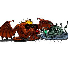 Balrog and Watcher in the Water by tduffy