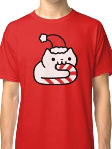 Candy Cane Cat Classic T-Shirt