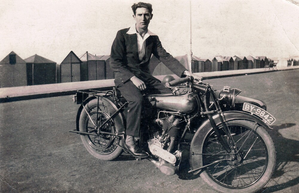 Brough Superior motorcycle-1930s by Flo Smith