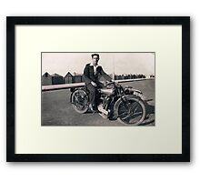 Brough Superior motorcycle-1930s Framed Print