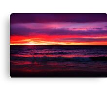Rainbow Coloured Sunset Canvas Print