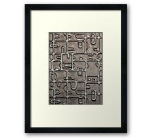 Aztec Glass Framed Print