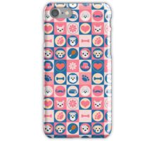 Puppies on Pink and Blue iPhone Case/Skin