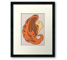 Brown haired girl Framed Print