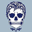 Skull Logo (White & Blue) by AlliVanes