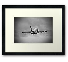 Emirates Airbus A380-861 Framed Print