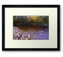 October Afternoon, on the magical River Tees Framed Print