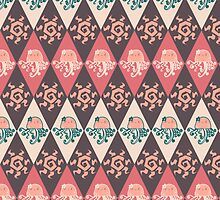Girly Jellyfish Argyle Pattern by SaradaBoru