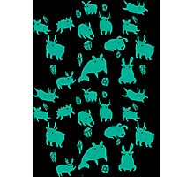 Weebeasts (teal) Photographic Print