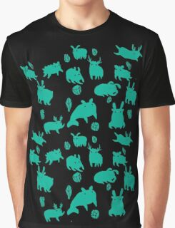 Weebeasts (teal) Graphic T-Shirt