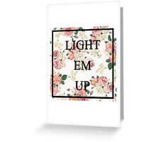 Floral Lyrics Greeting Card