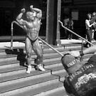 Bodybuider Flinders St Station by Andrew  Makowiecki