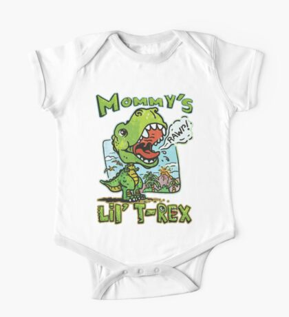 Mommy's Little T-Rex Dinosaur One Piece - Short Sleeve