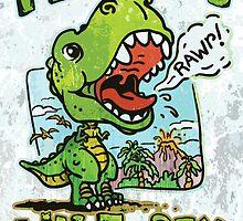 Mommy's Little T-Rex Dinosaur by MudgeStudios