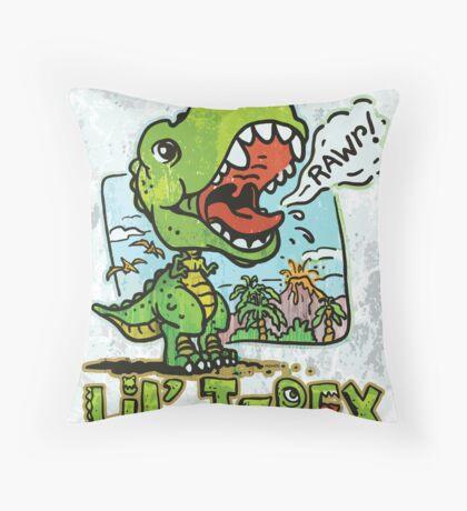 Little T Rex Dinosaur Throw Pillow