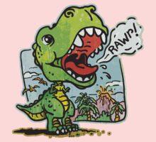 Little T Rex Dinosaur One Piece - Short Sleeve