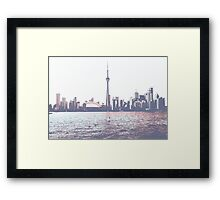 Red and Blue Toronto Symmetry Framed Print