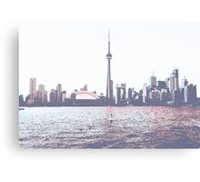 Red and Blue Toronto Symmetry Canvas Print